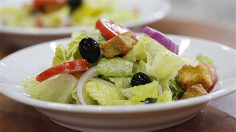 olive garden style salad with italian dressing today