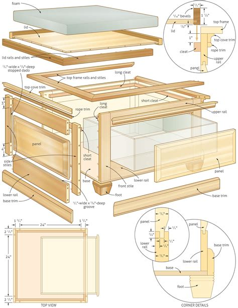 woodworking blueprints pdf diy storage bench plans woodworking plans