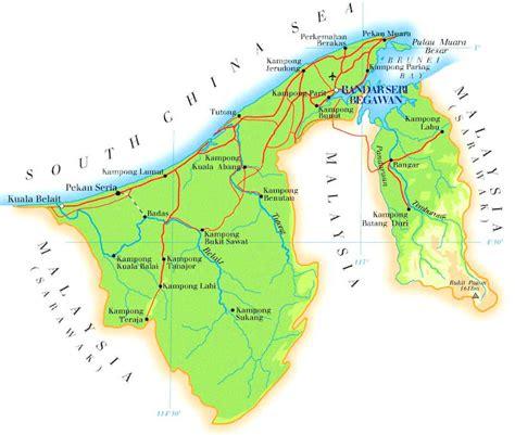 brunei map brunei maps
