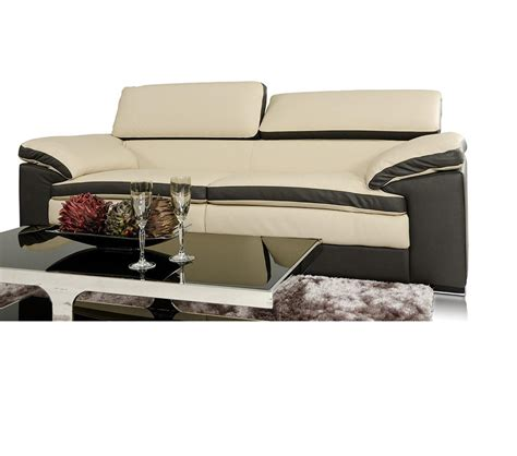 two tone leather sofa dreamfurniture com samoa modern two tone leather sofa set