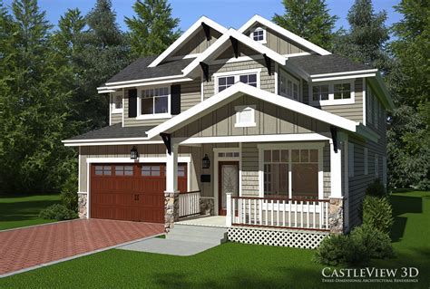 Three Story Home Plans by Exterior Architectural Renderings From Castleview3d Com