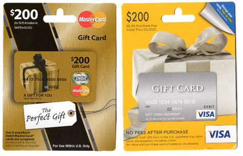 Mastercard Visa Gift Card - how to guide activate a gift card and create a pin