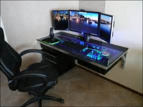gaming desk ideas pc tisch glas ikea tisch design
