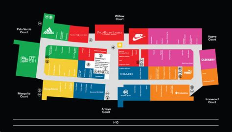 Layout Of Chandler Mall | complete list of stores located at phoenix premium outlets