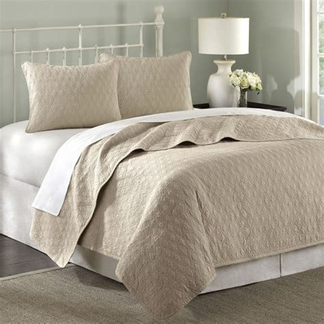 Zen Coverlet Set In Taupe Modern Quilts And Quilt Sets