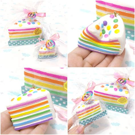 Squishy Rainbow Cake by Mini Chawa Rainbow Cake Squishy