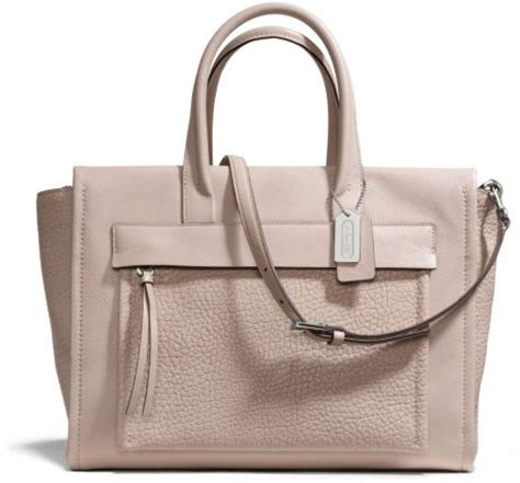 Handbag Cewek Wanita Fashion Gucci D6038 coach bleecker carryall in leather in beige sv grey birch lyst
