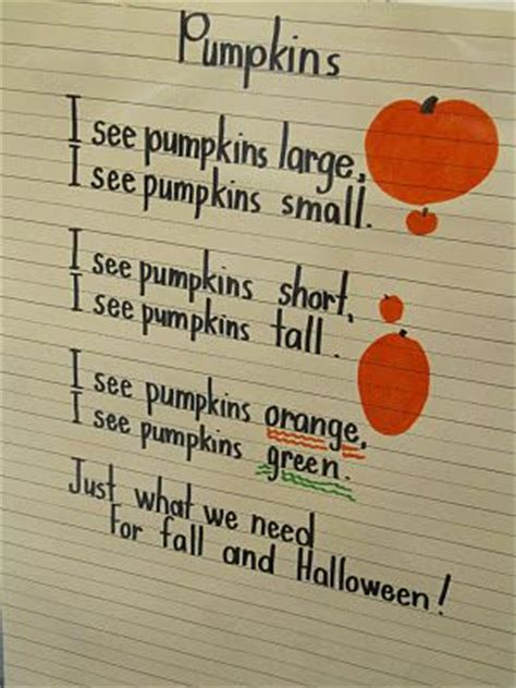 pumpkin poems pumpkin poem poems for kindergarteners