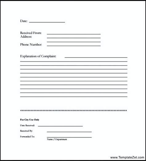 formal complaint form template customer complaint form in pdf templatezet