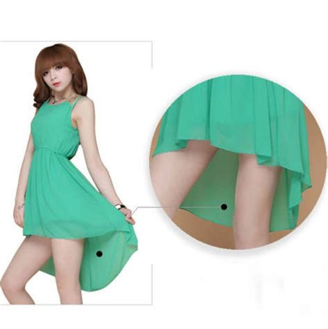 Baju Terusan Mini Dress Import Original Green Slim Wavy L s paillette shoulder slim chiffon casual mini vest dress 6 colors ebay