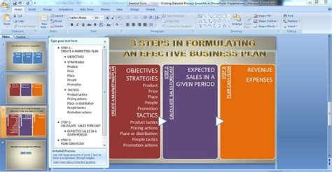 Using Detailed Process Smartart In Powerpoint Business Ideas Ppt Presentation