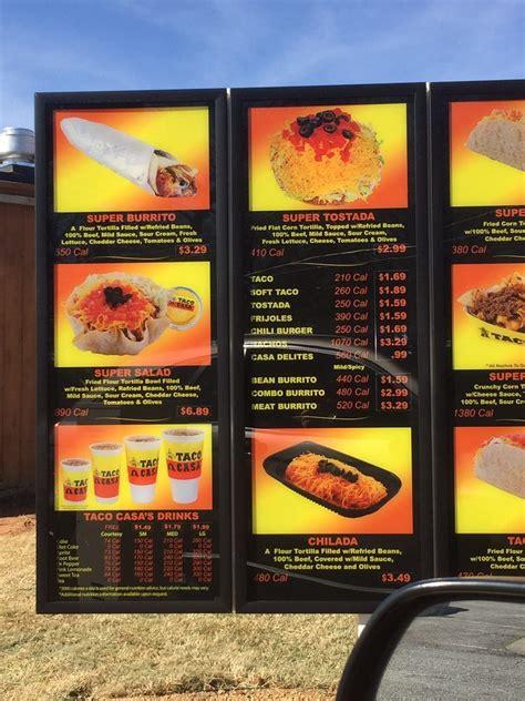 casa taco drive thru menu yelp