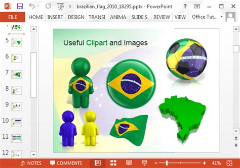 powerpoint 2010 themes brazil animated brazil powerpoint template