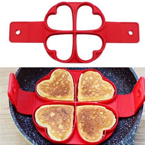 Teflon Pancake flippin nonstick pancake omelette maker ei ring kuchenform former pfannkuchen ebay