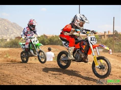 65cc motocross kawasaki 65cc dirt bike on a supercross track youtube