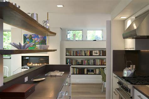 Nice Kitchen Islands built in book shelves kitchen modern with black bookcase