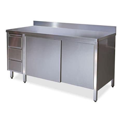 tavolo acciaio inox prezzi ta4130 tavolo armadio in acciaio inox con porte su un lato
