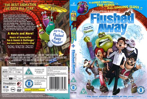 cover layout com flushed away 2006 r2 cartoon dvd cd label dvd cover