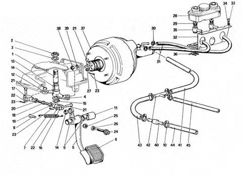 Brake System Reference Exploded View Maranello Classic Parts