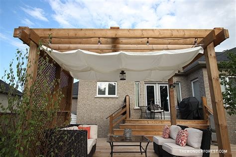 Awning Online Diy Retractable Pergola Canopy Tutorial Wonder Forest