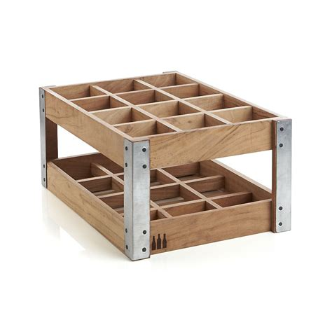 Wine Wood Rack by Rustic Acacia Wood Crate Wine Racks The Green