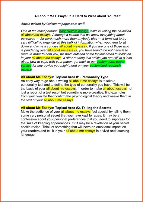 Essay Exles About Yourself by Essays About Yourself Reflective Essay Sle Jpg Sponsorship Letter