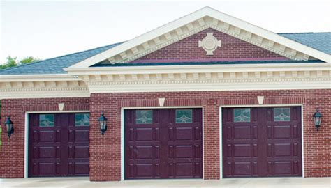 Chi Overhead Doors Parts Chi Overhead Doors Parts Brown Aluminum Garage Door With House House Design And Available