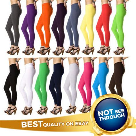 color jeggings cotton length all colors and plus sizes ebay