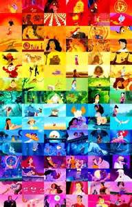 disney colors disney rainbow collage colors multicolors
