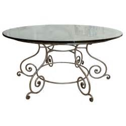 Wrought Iron Dining Table Bases Glass Top Dining Table With Attractive Wrought Iron Base At 1stdibs