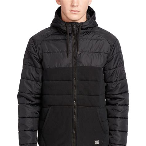 Polo Ralph Quilted by Polo Ralph Quilted Hybrid Jacket In Brown For