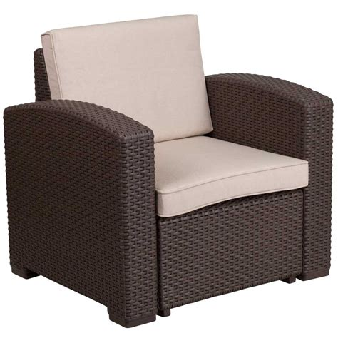 rattan patio chair faux rattan patio chair chocolate brown in outdoor chairs