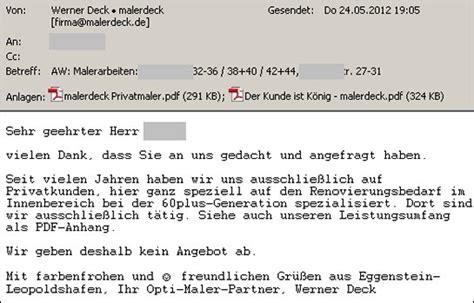 Terminabsage Schreiben Muster Absage Archives Malerdeck Ihr Opti Maler Partner 174 Aus Karlsruhe Eggenstein Und Umgebung