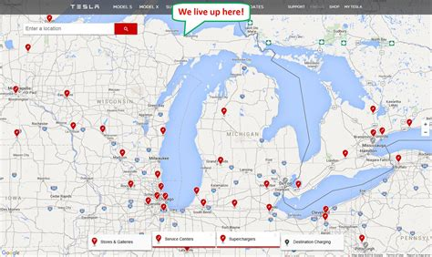 Tesla Charging Stations Michigan Tesla Supercharger Locations Illinois Get Free Image