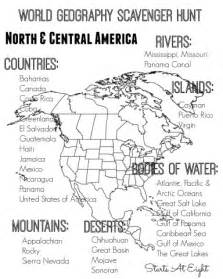 map activities for us geography classes world geography scavenger hunt central america