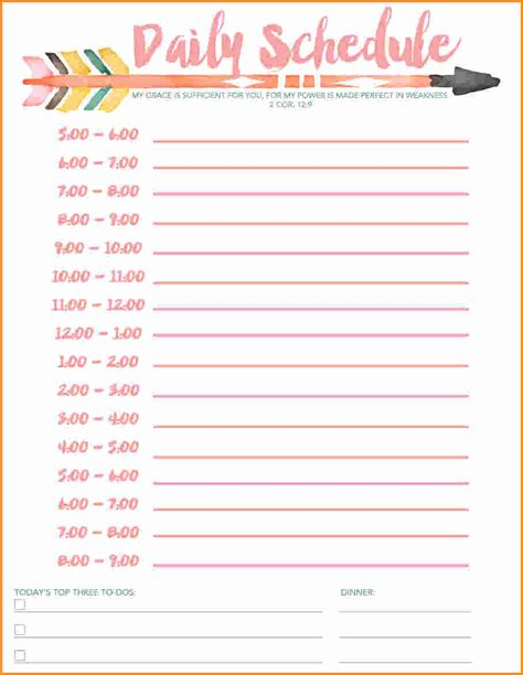 7 Free Printable Daily Schedule Authorization Letter | 7 free printable daily schedule authorization letter
