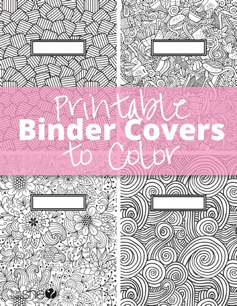 Coloring Page Binder Cover by Printable Binder Covers To Color Free For Back