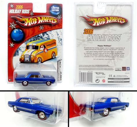 Hotwheels Koleksi Rod Edition wheels 65 pontiac gto blue 2006 rods limited edition new free shipping