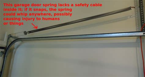 Garage Door Safety file garage door needs a safety cable through it