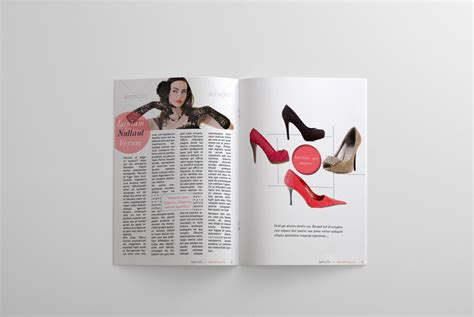 fashion magazine template 24 pages magazines