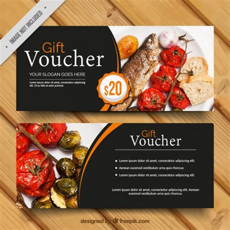 food voucher template food voucher food