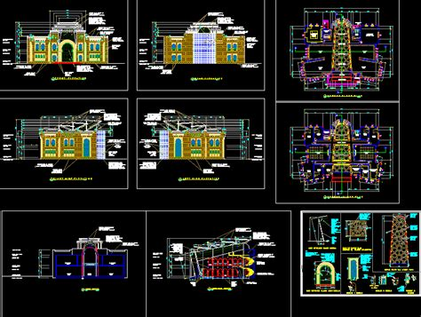 museum design drawings cad drawings download cad blocks islamic style museum dwg block for autocad designs cad