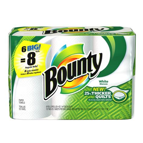 Who Makes Bounty Paper Towels - buy the p g 28857 bounty 6roll paper towel at hardware world