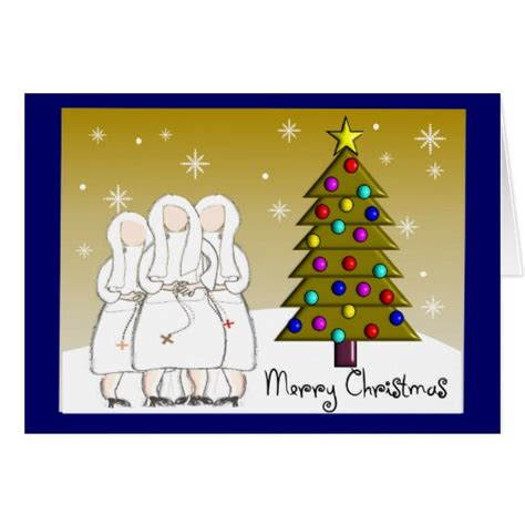 nuns christmas cards and gifts artsy design zazzle