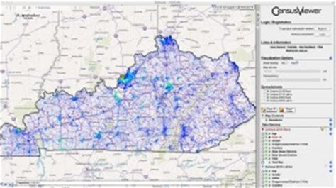 of kentucky interactive map population of kentucky census 2010 and 2000 interactive