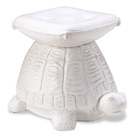Ceramic Stool Side Table by White Ceramic Turtle Garden Seat Stool Side Table Ebay