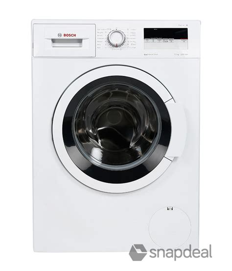 bosch 6 5 kg wak20165in fully automatic front load washing machine white price in india buy