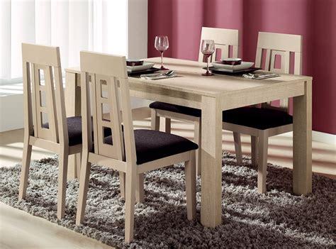 mesa   sillas madera de haya muebles la fabrica
