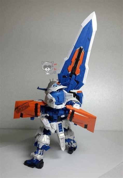 Sd Gundam Papercraft - sd mbf p03 gundam astray blue frame papercraft by knk1969