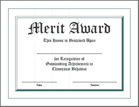 merit award certificate template certificates for teachers award certificates merit award